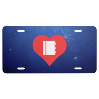 I icono de los cuadernos del corazón placa de matrícula