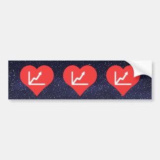 I icono de los gráficos de negocio del corazón pegatina para auto