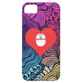 I icono inalámbrico del ratón del corazón iPhone 5 carcasas