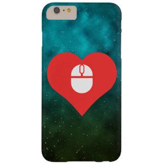 I icono inalámbrico del ratón del corazón funda de iPhone 6 plus barely there