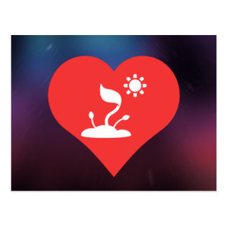 I icono que cultiva un huerto del corazón tarjetas postales