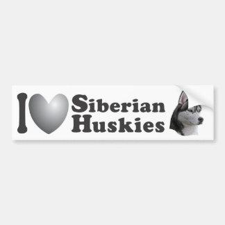 I imagen de los huskyes siberianos w/Stylized del  Pegatina Para Auto