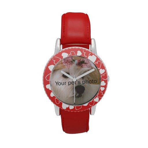 I imagen del mascota de Heart_My personalizada Relojes De Pulsera