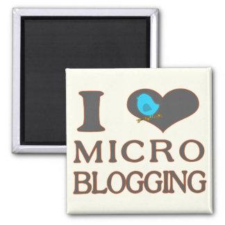 I imán Blogging micro del corazón
