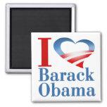 I imán de Barack Obama del corazón (blanco)