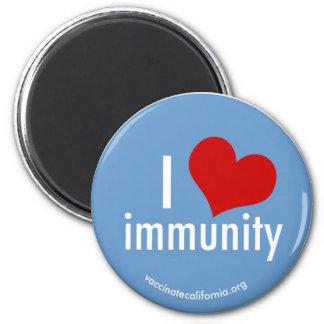 I imán de la inmunidad del corazón redondo
