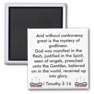 I imán del 3:16 de Timothy