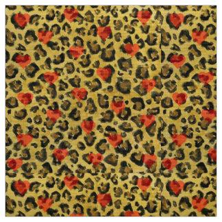 I impresión del guepardo del corazón telas