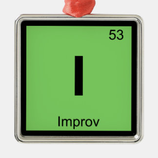 I - Improv Theatre Chemistry Periodic Table Symbol Metal Ornament