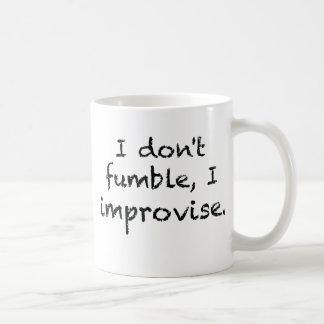 I Improvise Classic White Coffee Mug