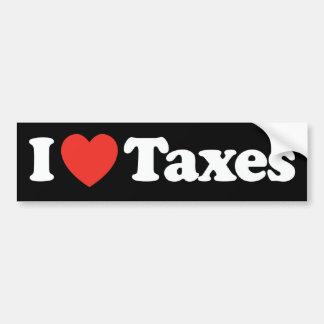 I impuestos del corazón pegatina para auto