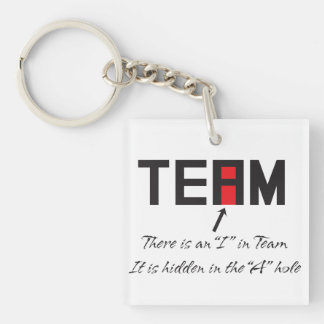I in Team Keychain