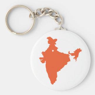 I ♥ India Keychain