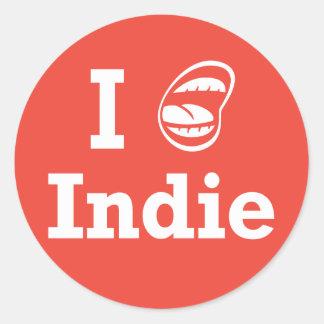 I [☺] Indie Classic Round Sticker
