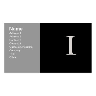 """""""I"""" initial business card"""