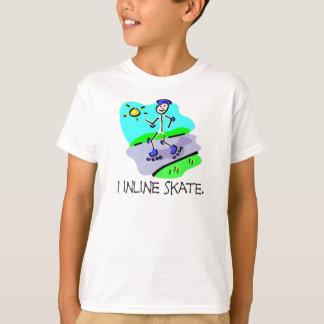 I Inline Skate Stick Figure T-Shirt
