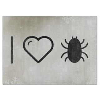 I insectos de Halloween del corazón Tablas De Cortar