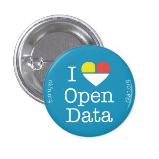 I insignia abierta de los datos CKAN del corazón Pin Redondo De 1 Pulgada