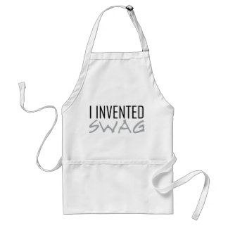 I Invented Swag Grey Adult Apron