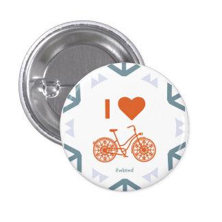 I invierno del corazón Biking - pequeño Pin