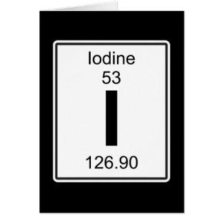 I - Iodine Card