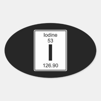 I - Iodine Oval Sticker