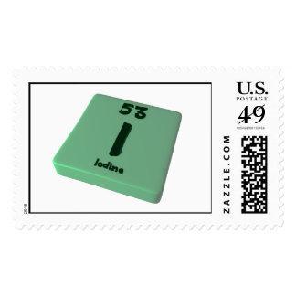 I Iodine Stamp