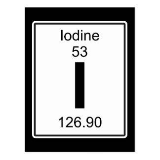I - Iodine Postcard