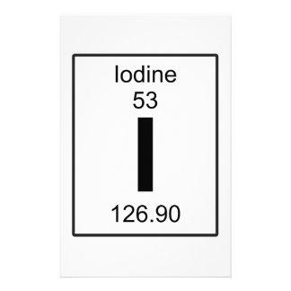 I - Iodine Stationery