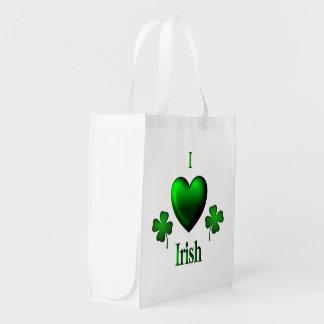 I irlandés del corazón bolsa para la compra