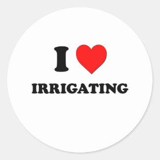 I irrigación del corazón pegatina redonda