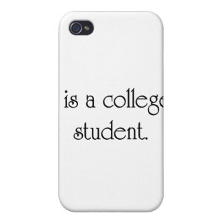 I Is A College Student iPhone 4/4S Covers