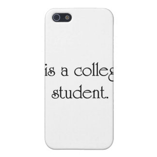 I Is A College Student iPhone 5 Covers