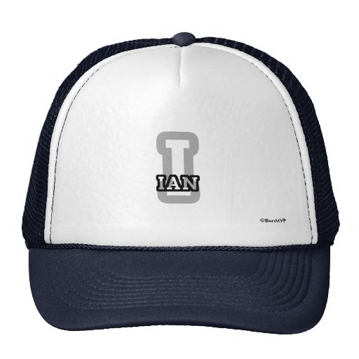 I is for Ian Hats