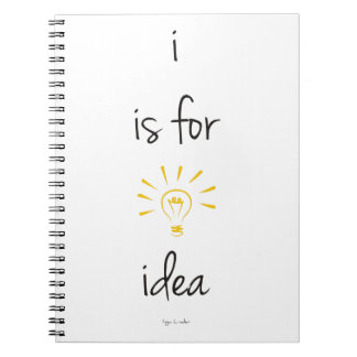 i is for idea Notebook