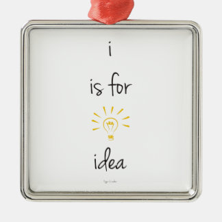 i is for idea ornament