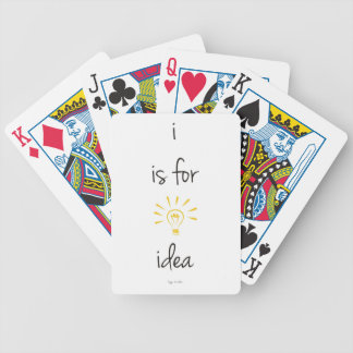 i is for idea bicycle card deck