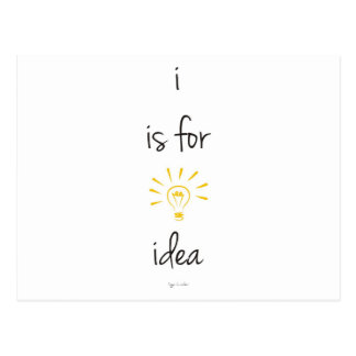 i is for idea postcard