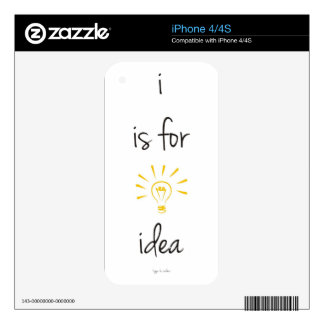 i is for idea iPhone 4 decals