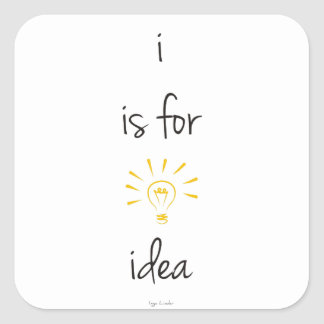i is for idea stickers