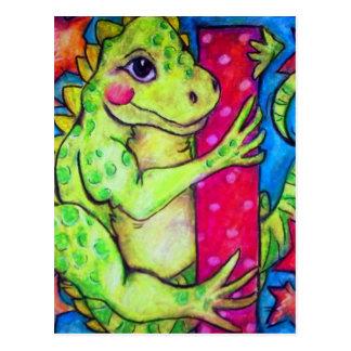 I is for Iguana Postcard