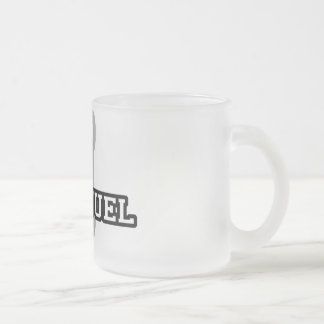 I is for Immanuel Frosted Glass Coffee Mug