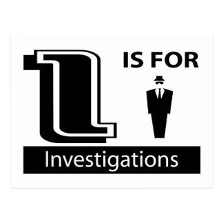 I Is For Investigations Postcard