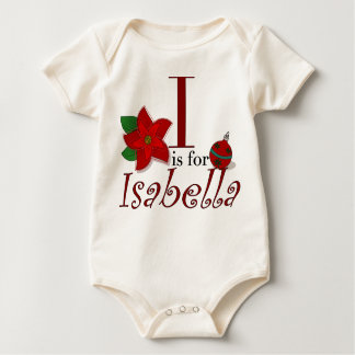 I is for Isabella, Baby's First Christmas T-shirt