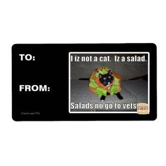 I iz not a cat. Iz a salad. Label