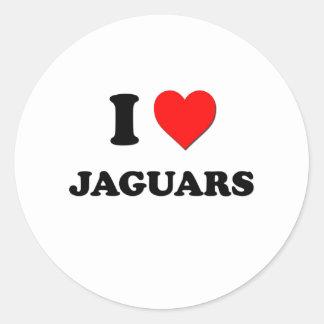 I jaguares del corazón pegatina redonda