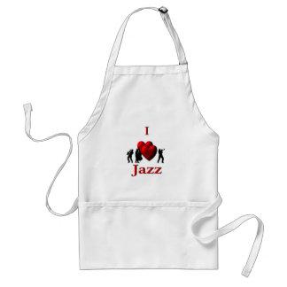 I jazz del corazón delantal