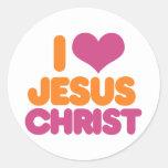 I Jesucristo del corazón Pegatinas