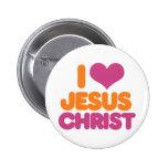 I Jesucristo del corazón Pin