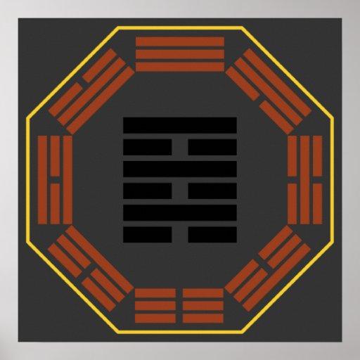 """I ji de Wei del Hexagram 64 de Ching """"antes de la  Póster"""